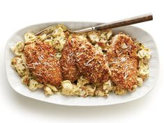 Nutty and buttery Pecan-Crusted Chicken and Tortellini with Herbed Butter Sauce is your winning solution to getting dinner on the table in 30 minutes. Chicken Tortellini, Tortellini Recipes, Pasta Recipes, Dinner Recipes, Sauce Recipes, Chicken Recipes, Cooking Recipes, Chicken Meals, Pecan Crusted Chicken