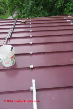 S!5 Snow Guard Clamp Installation On A Standing Seam Metal Roof (C)