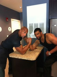 Dwayne Johnson And DeRay Davis