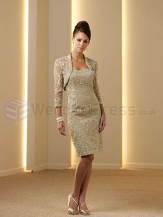 Slim Knee-length Silk Shantung Corset Bodice Strapless Softly Curved Neckline Mother of the Bride Dress