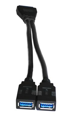 ever wanted to give a good use to that 20 pin connector on your motherboard? Here this is a perfect solution to get two extra USB ports
