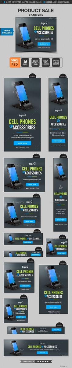 Product Sale Banners - Banners & Ads Web Template PSD. Download here: http://graphicriver.net/item/product-sale-banners/10654595?s_rank=1794&ref=yinkira