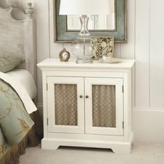 Idea For Media Cabinet Or For Buffet, Paint White And Do The Doors With  Chicken