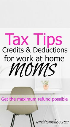 Make the most of your money with these tax tips for small businesses and work at home moms. Great article with tons of information to help you at tax time. Small Business Tax, Successful Home Business, Home Based Business, Business Ideas, Online Business, Business Funding, Income Tax Preparation, Business Tax Deductions, Tax Credits