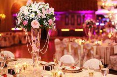 Elegant Italian Wedding   Wedding Flowers   Table Centerpieces   Wedding Hall table settings in Restaurant Riviera, Brooklyn NY   Wedding Photos by Anna Rozenblat Photography   www.AnnasWeddings.com    NYC, New York, Long Island, Westchester