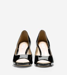 For as long as I can remember - my go to dress shoe always - a black patten  peep-toe pump. And pretty much all I wear is Cole Haan Shoes - love ...