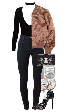 """they say nothing and it's all I need"" by marbleme ❤ liked on Polyvore featuring Luvvitt, Alice + Olivia, J Brand, Louis Vuitton, Enchanté and Rolex"