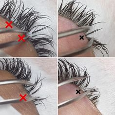 ❌✖️❌✖️❌✖️Please be careful. This is not what lash extensions are supposed to look like. There should only be one extension or one fan per… Eyelash Extensions Styles, Individual Eyelash Extensions, Beauty Tips For Women, Beauty Tips For Skin, Mascarilla Diy, Eyelash Conditioner, Eye Cream For Dark Circles, Eyelash Sets, Individual Lashes