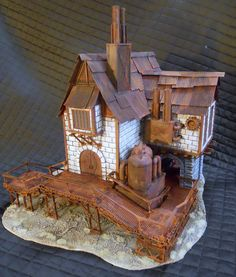 More custom miniature buildings for Warmachine. #NerdAlert