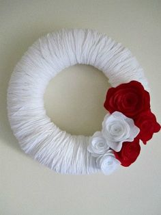 Valentines Day Wreath? Cute and simple!