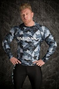 Galaxy Long Sleeve Rashguard Grey Moro