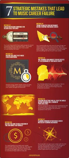 Infographics marketing music how brands affect bands music seven steps musicians take in the wrong order why many music careers fail malvernweather Gallery