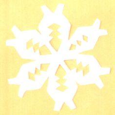 Making paper snowflakes