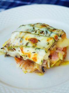 stuttgartcooking: Zucchini-Tomaten-Champignon-Kartoffel-Auflauf mit Mozzarella überbacken