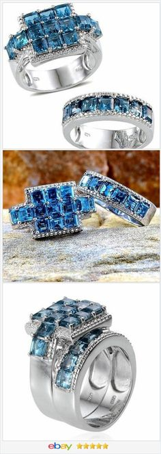 50% OFF #ebay  http://stores.ebay.com/JEWELRY-AND-GIFTS-BY-ALICE-AND-ANN London Blue Topaz Princess Ring set 10.00 carats size 7 VALENTINES DAY