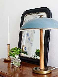Alla bilder, love the color of the lamp, celestial blue ?