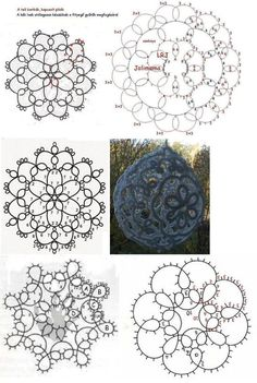 17 Best images about Tatting diagram