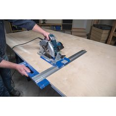 The Kreg rip-cut turns your circular saw into a precision edge-guided cutting tool that makes straight, accurate, repeatable cuts in plywood, MDF and other large sheets. With the rip-cut, you can cut Rockler Woodworking, Woodworking Supplies, Woodworking Techniques, Popular Woodworking, Woodworking Videos, Woodworking Furniture, Woodworking Projects Plans, Wood Furniture, Youtube Woodworking