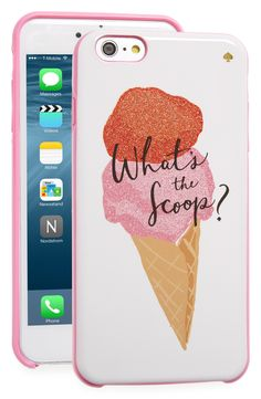 Get the scoop while looking super-chic with this glittery iPhone case by Kate Spade.
