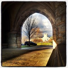 Morning sunshine, with Virginia Tech's Burruss Hall in the background.   One of my favorite spots on campus :)