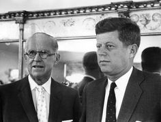 President Kennedy with his father.