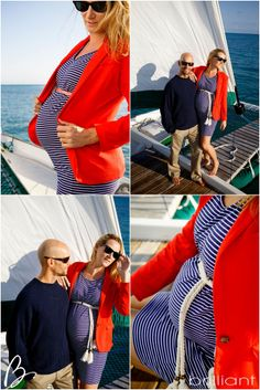 Nautical Themed maternity shoot in The Caribbean, Turks & Caicos | Sail Beluga.   Chanelle Segerius-Bruce & Craig Bruce Photography by Anita at Brilliant Studios Styling by Stacie Steensland