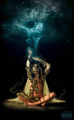 Guestbook of witch time - Gothik / Gothic / Fantasy / Mystery - Fantasy Kunst, Fantasy Art, Art Visionnaire, Goddess Art, Visionary Art, Divine Feminine, Sacred Feminine, Psychedelic Art, Dark Art