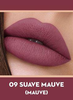 09 Suave Mauve (Mauve) von Sugar Smudge Me Not Liquid Lipstick - Makeup - Make-Up Mauve Lipstick, Lipstick Dupes, Best Lipsticks, Lipstick Shades, Lipstick Colors, Liquid Lipstick, Wine Colored Lipstick, Purple Lipstick Makeup, Makeup Tricks