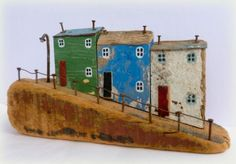 The Contemporary Craft Fair | 6-8 June 2014 | Mill Marsh Park, Bovey Tracey saw these little wooden houses at the fair last year and fell in love wiht them... maybe this year i can get one to take home with me :)