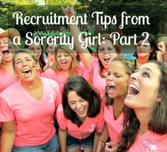 Earlier this week I wrote a post about helpful tips for potential new members (PNMs) going through recruitment! Part 2, however, is all about sorority members! There are tons of articles out there …