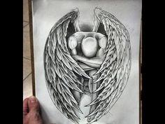 Karakalem Melek çizimi  How To drawing Angel
