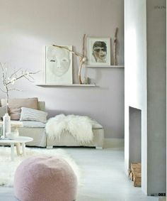 Soft, feminine and cosy atmosphere