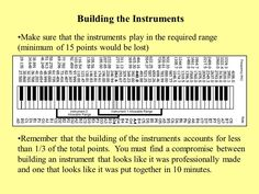 Description of Event Prior to the competition each team will build two types of musical instruments [aerophone, chordophone, idiophone, or membranophone]
