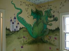 Fresh Paint | Murals Symphony House 2003 Dragon~ I would do this but daddy says it might be too scary for Robby