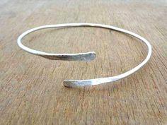 Upper Arm Cuff Arm cuffArmletsimple armband silver by avicraft