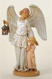 Child with Guardian Angel Religious Figurines