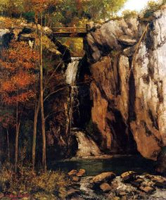 Courbet waterfall paintings - Google Search
