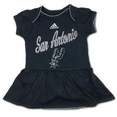 Basketball Baby Bodysuit Spurs Girl Game Day Outfit Sparkly Basketball Baby Girl Clothes Silver and Black Basketball Baby Outfit