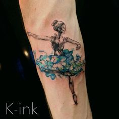 #ballerina #wayercolortattoo #ink #tattoo