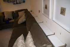 She Put IKEA Shelves On The Wall, Then Did THIS With The Couch. Brilliant! :: NX2 - News Twice As Fast