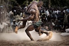 Nigerian wrestlers. This is what Okonkwo was known for, he was the fiercest wrester in Umuofia and was a famous celebrity.