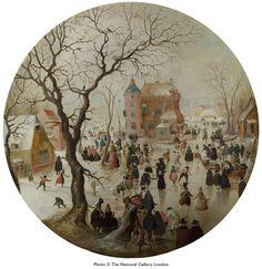 Hendrick Avercamp     Winter Scene with Skaters Near Castle