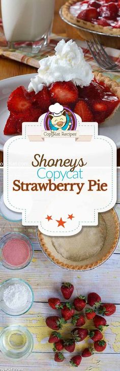 The best Shoney's Strawberry Pie recipe. Make this copycat recipe for the famous Shoney's Strawberry Shoneys Strawberry Pie, Strawberry Desserts, Recipes For Strawberries, Copykat Recipes, Pie Recipes, Dessert Recipes, Cooking Recipes, Recipies, Pie Cake