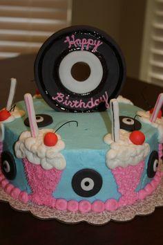 Soda Shop birthday cake.