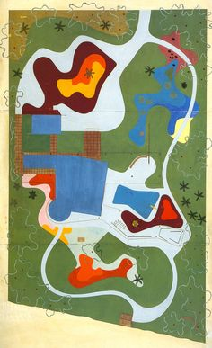 """Site plans by Roberto Burle Marx From The Jewish Museum: """"Roberto Burle Marx (1909–1994) was one of the most influential landscape architects of the twentieth century, yet he is not a familiar figure..."""