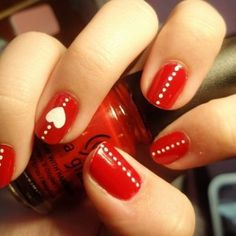 valentine marble nails