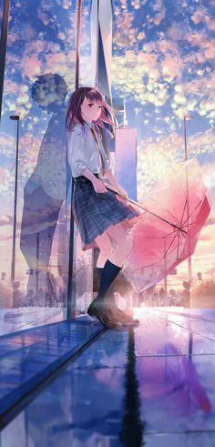 Beautiful Of Manga Girl - Jutaan Gambar Sky Anime, Anime Cupples, Manga Anime Girl, Anime Couples Manga, Hd Anime Wallpapers, Cute Anime Coupes, Fantasy Art Landscapes, Digital Art Girl, Manga Illustration