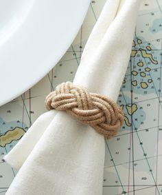 Jute Napkin Ring. #coastal