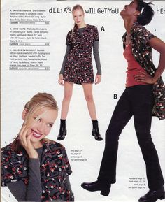 Because OMG you can wear a dress as a shirt?! Why had you never thought of this before. | 17 Reasons Why The Fall '96 Delia's Catalog Was Everything To You