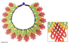 Beaded necklace, 'Huichol Dreams' - NOVICA